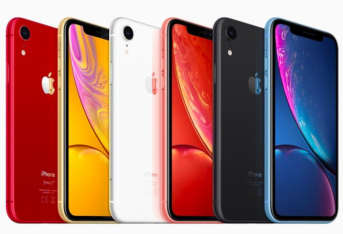 Les iPhone XR en plusieurs coloris