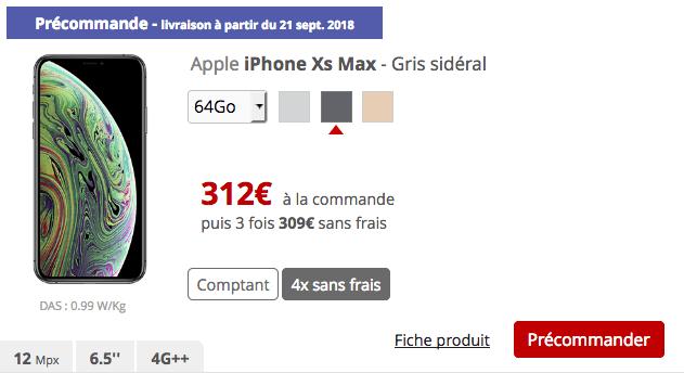 ec88484fafdbb Comment payer en plusieurs fois son iPhone XS ou XS Max chez Sosh et ...