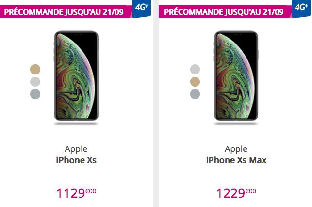 Les iPhone XS et iPhone XS Max sont en précommande chez Bouygues Telecom.