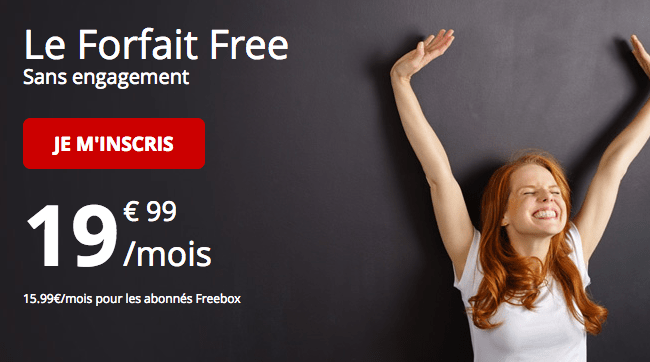 Le Forfait Free 4G illimité.
