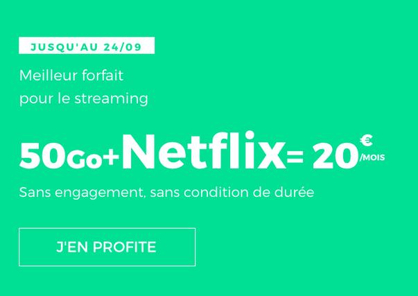 Le forfait pas cher de RED by SFR avec Netflix inclus.