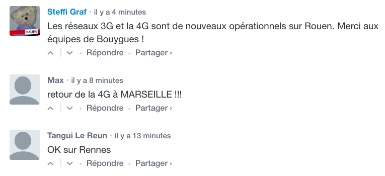 La panne Bouygues a été réglée dans certaines villes de France.