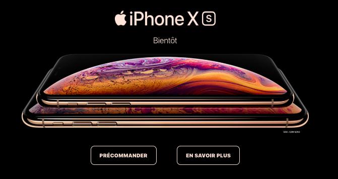 La précommande des iPhone Xs et Xs Max débutent chez SFR.