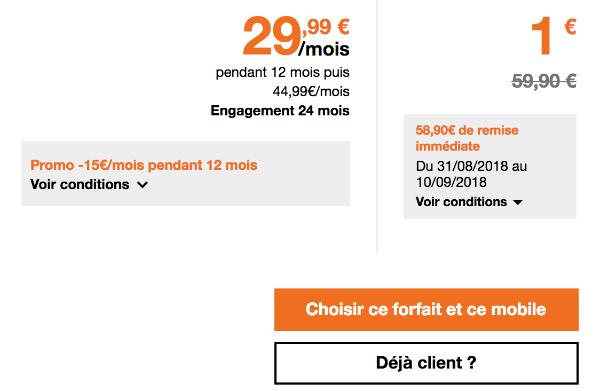 Huawei Mate 20 lite promotion chez Orange