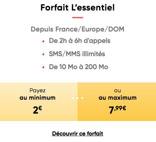 Le forfait mobile pas cher de Prixtel, avec des prix qui s'adaptent à la consommation.