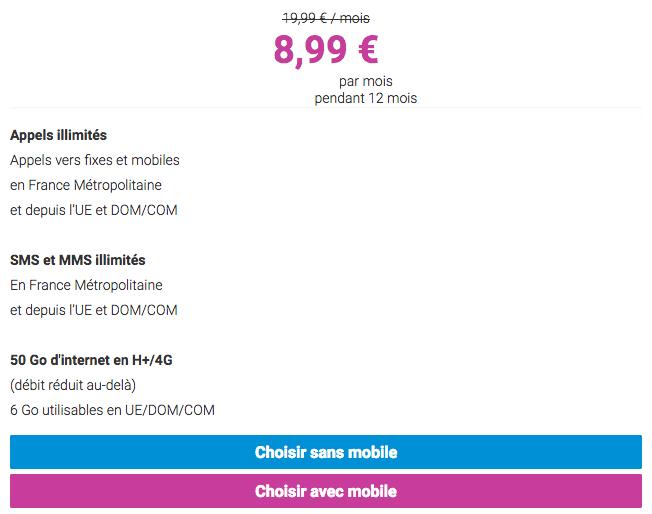 Forfait Coriolis Telecom50 Go promotion.