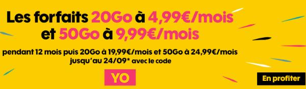Sosh forfait mobile 4G pas cher avec code promo.