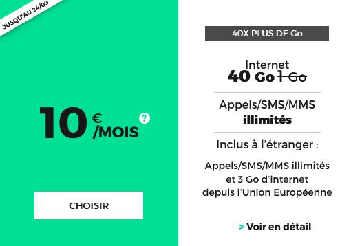 Un forfait illimité chez RED by SFR pour seulement 10€ mensuels.