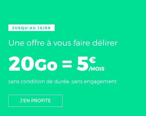 RED by SFR propose un forfait pas cher à 5€/mois.