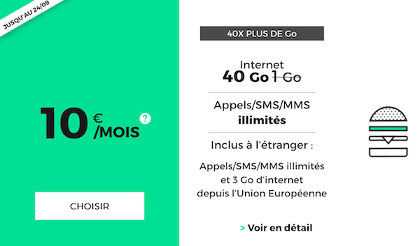 Forfait mobile 4G RED by SFR.