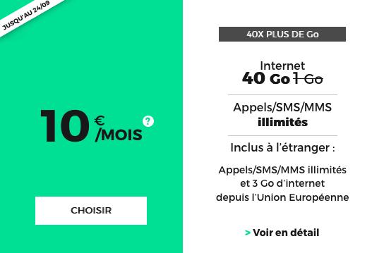 RED by SFR avec 40 Go en 4G, le forfait pas cher.