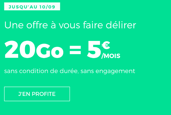 Forfait mobile RED by SFR sans engagement promotion.