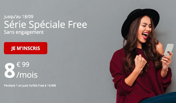 Série spéciale Free mobile forfait tout inclut 60 Go 4G.