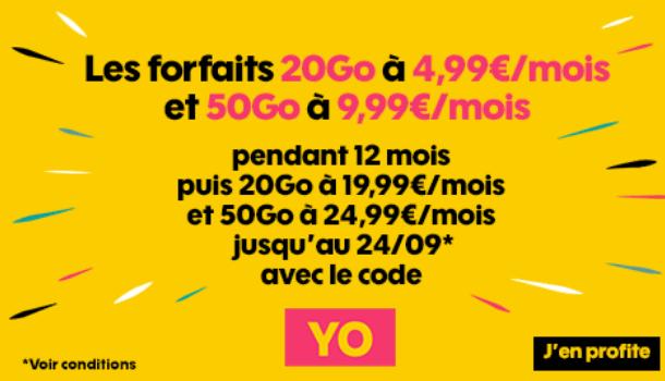 Promotion Sosh forfait mobile 4G