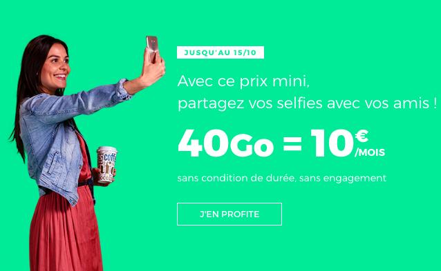 40 Go pour 10€ avec RED by SFR.