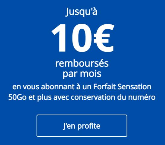 Promotion sur les forfaits Sensation.