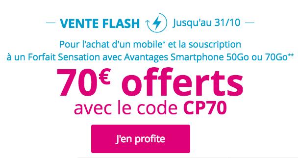 Le code CP70 à utiliser de Bouygues Télécom.