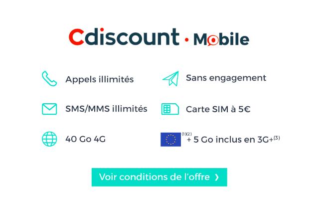 Le détail des services de l'offre de Cdiscount Mobile.