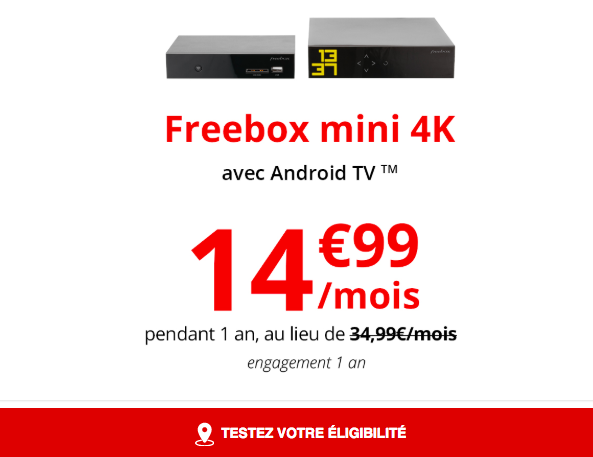Une box Internet de Free.