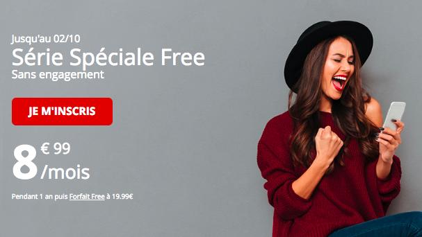 L'offre promotionnelle de Free Mobile avec 60 Go.