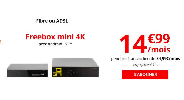 La Freebox Mini 4K à 14,99€.