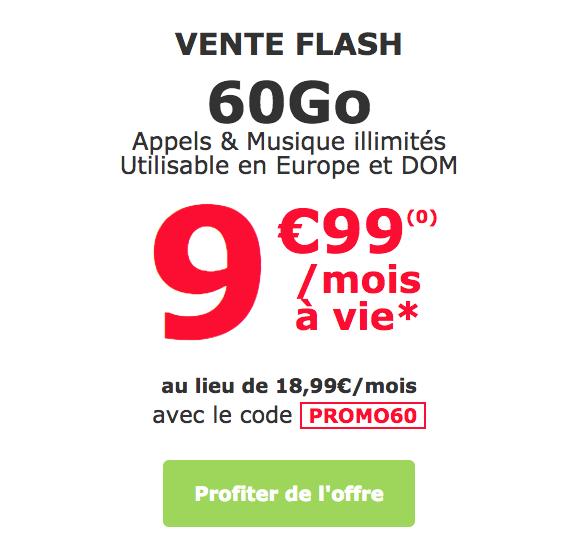 Le forfait à 9,99€ de La Poste Mobile.