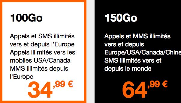 Les forfaits internationaux Orange.