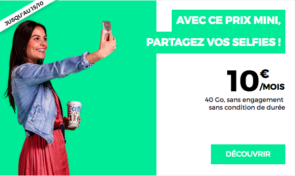 Le forfait à 10 euros de RED by SFR.