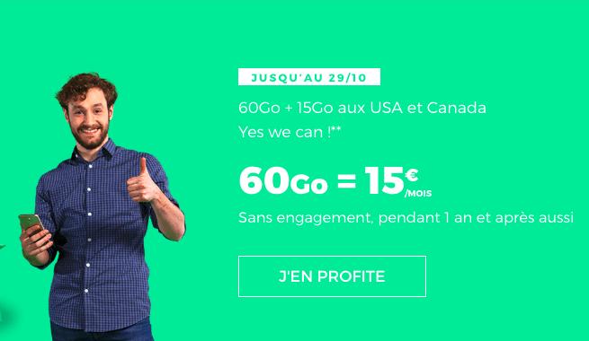 Le forfait avec 60 Go de RED by SFR.