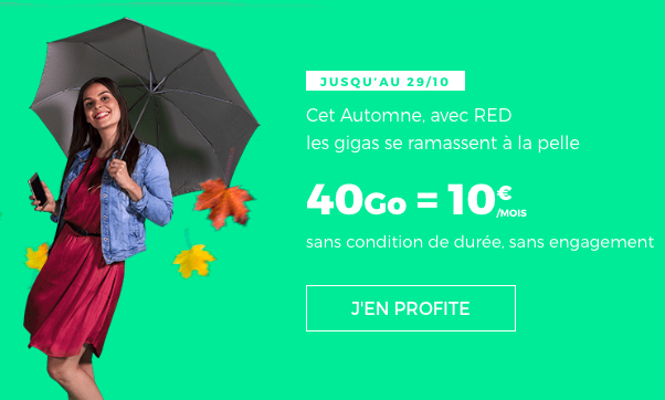 40 Go = 10€ avec RED by SFR.