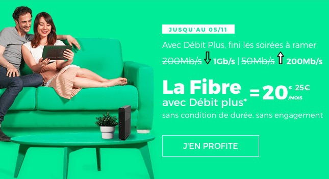 La Fibre = 20€ avec RED by SFR.