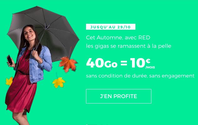 L'offre 40 Go de RED by SFR.