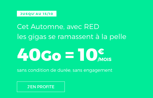l'offre 40 Go de RED by SFR.