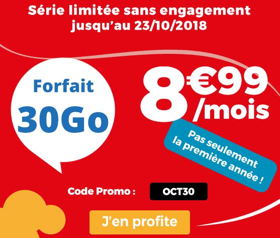 Auchan Telecom promotion valable à vie.
