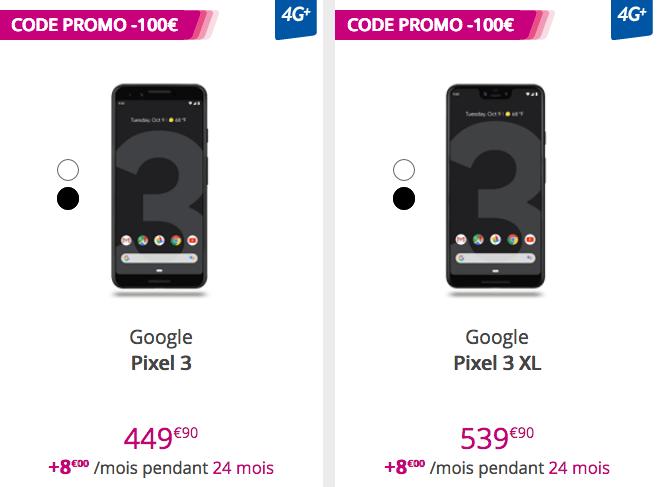La précommande des nouveaux smartphones, les Google Pixels 3 et 3 XL, avec un forfait illimité chez Bouygues Telecom, c'est possible !