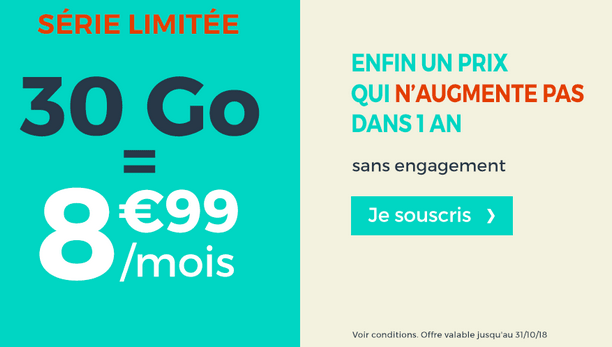 Cdiscount mobile promotion forfait mobile 4G.