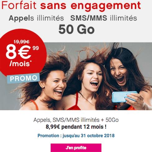 50 Go de 4G Coriolis Telecom forfait mobile promotion.