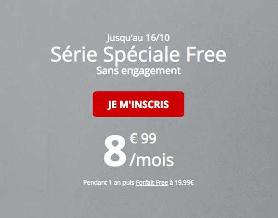 Série spéciale Free promotion 60 Go.