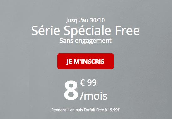 Promotion forfait mobile Free riche en 4G pas cher.