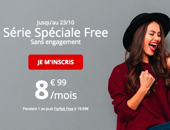 Le forfait 60 Go à 8,99€ de Free Mobile.