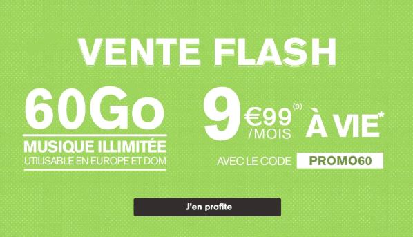 60 Go à 9,99€ avec La Poste Mobile.