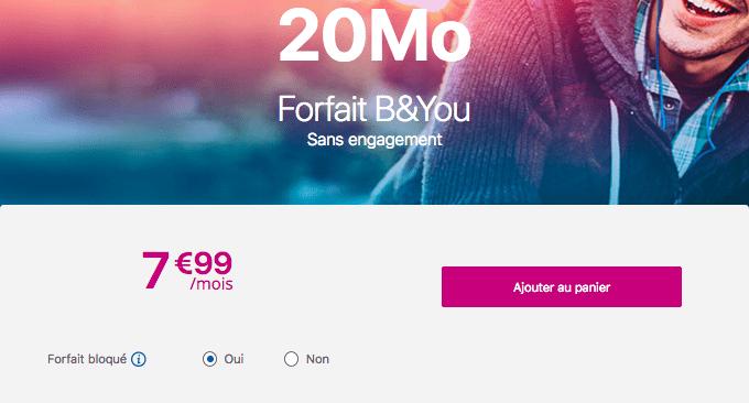 Forfait mobile bloqué B&YOU