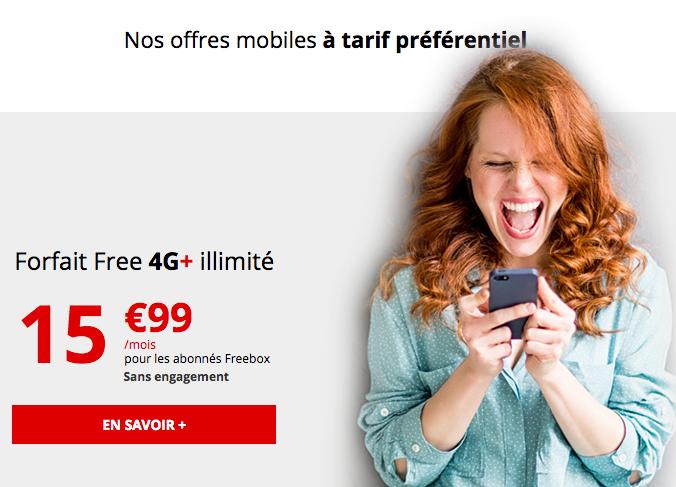la 4G illimitée avec Free mobile.