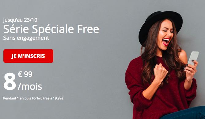 Le forfait en promotion de Free mobile.