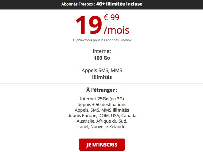 Forfait mobile Free international pas cher.