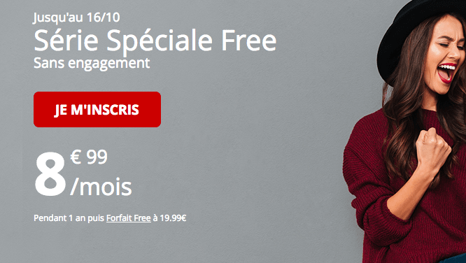 Promotion forfait mobile série spéciale free.