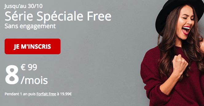 Forfait mobile de Free en série spéciale.