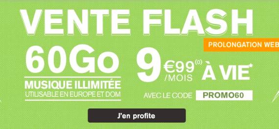 60 Go pour 9,99€ à vie de La Poste Mobile.