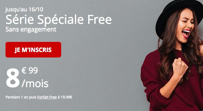 Promotion Forfait Free série spéciale riche en 4G.