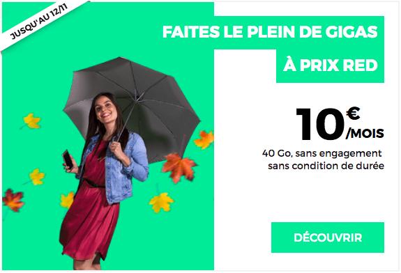 Le forfait 40 Go de RED by SFR.